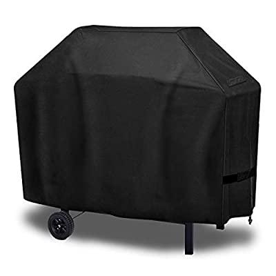 OurWarm Grill Cover 58Inch Waterproof BBQ Cover, 600D Heavy Duty Gas Grill Cover for Weber Genesis II 3 Burner, Brinkmann, Char Broil, Nexgrill, Holland and Jenn Air(UV & Waterproof & Rip Resistant)