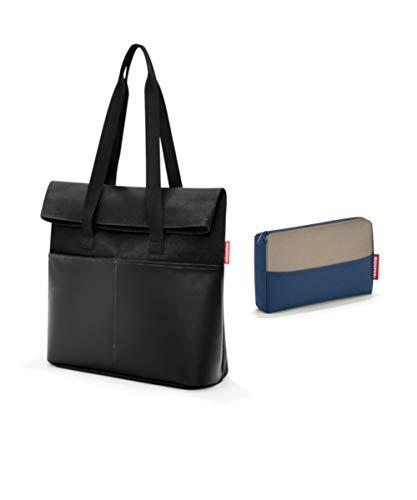 reisenthel Canvas Businesstasche   Workbag   Umhängetasche   Aktentasche + Organizer Tasche   pocketcase (foldbag Canvas Black)