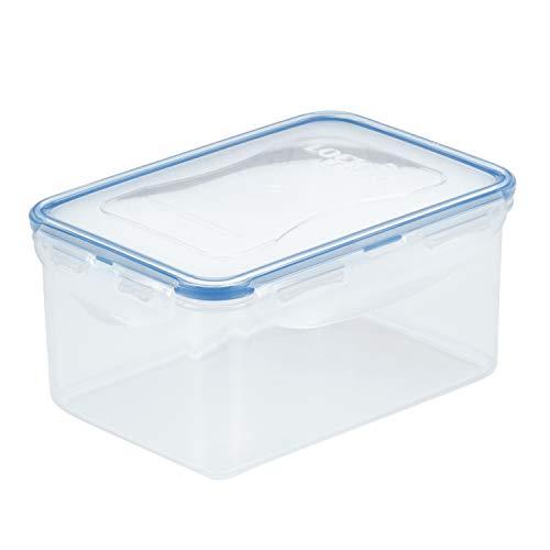 Lock & Lock Rechthoekig Water Tight voedsel container, kort (1,1 liter) Korte 1.1 L Helder/Blauw
