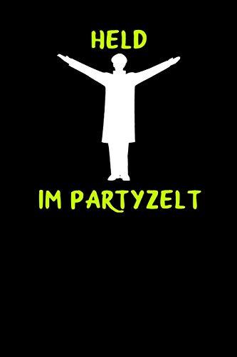 Held im Partyzelt: A5 Notizbuch Demi Raster / Karo / Kariert 120 Seiten zum Oktoberfest. I Geschenkidee für Fans der Wiesn in München.