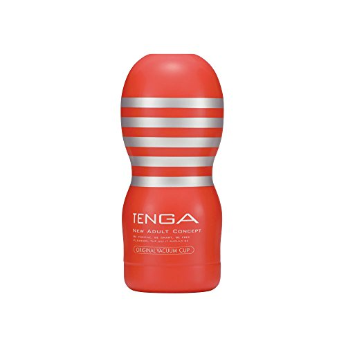 TENGA Original Men Masturbation Vacuum Cup, Pre-lubricated Powerful Deep Throat Suction Male Masturbator and Massager, TOC-101 Standard