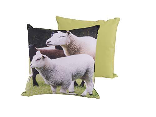 CB Home & Style Outdoor Garten Kissen Wasserabweisend 45 x 45 cm Dekokissen Tiere Schafe Kühe (SchafeDes5)