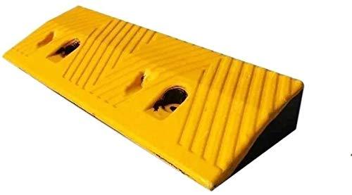 Rampas Garaje Rampas de goma espesa el encintado duradero Rampas Amarillo Negro multifunción antideslizante rampas for sillas de ruedas Rampas Familia Mejor Capacidad de carga ( Color : Yellow )