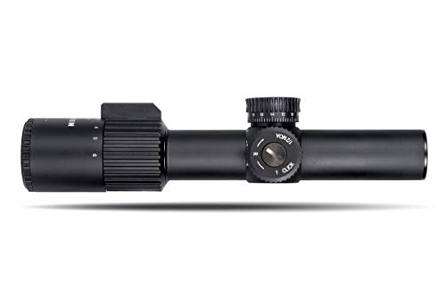 Monstrum Alpha Series 1-4x24 First Focal Plane FFP Rifle Scope with MOA Reticle | Black