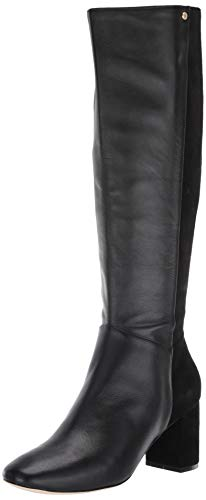 Cole Haan Women's Rianne Boot 65Mm Mid Calf, Black Lthr/Suede, 5.5 B US