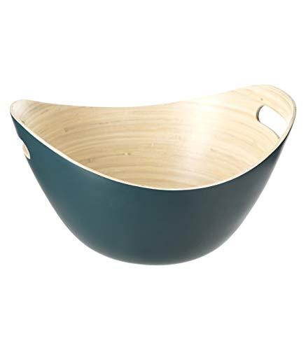Secret de Gourmet - Saladier en Bambou Vert 30 x 26 x 13 cm