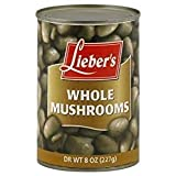 Lieber's Mushrooms Whole Kosher For Passover 8 Oz. Pack Of 3.