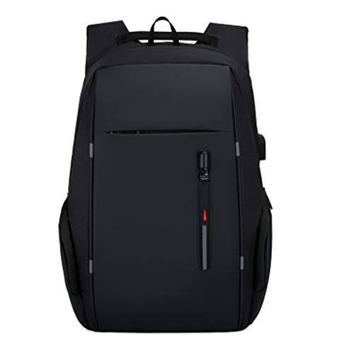 ASDF Business Multifunction Computer Backpack,with USB Charging Port,15.6 Inch Large Lightweight College High School Bag,Black