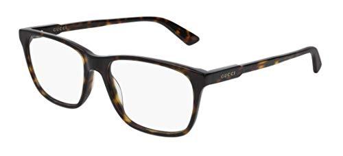 Gucci Brille für Vista GG0490O 007 havana rahmenmaterial: kunststoff größe 55 mm brille mann