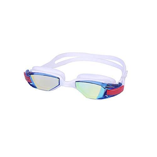 GPWDSN öppet vattenglasögon, vidskådlig simglasögon, inget läckande anti-dimskydd simglasögon mjuk silikon näsbrygga för män, kvinnor, junior