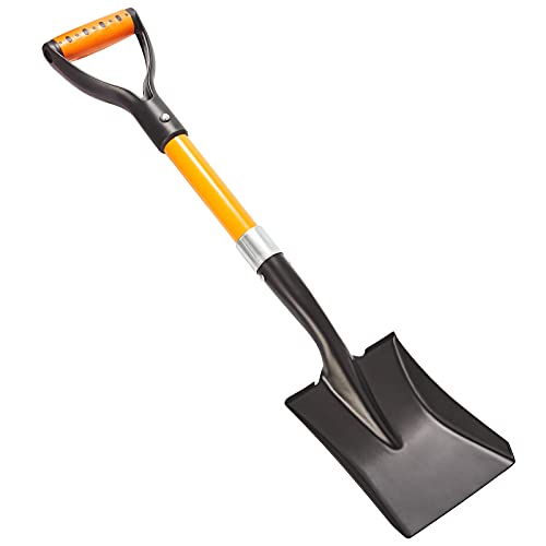 Mini Square Shovel, Kids Beach Shovel ,Shovels for Digging 28-inch with Fiberglass Handle,Small Garden Shovel, Kids Snow Shovel,Shovels for Gardening with D- Handle Gardening Tools
