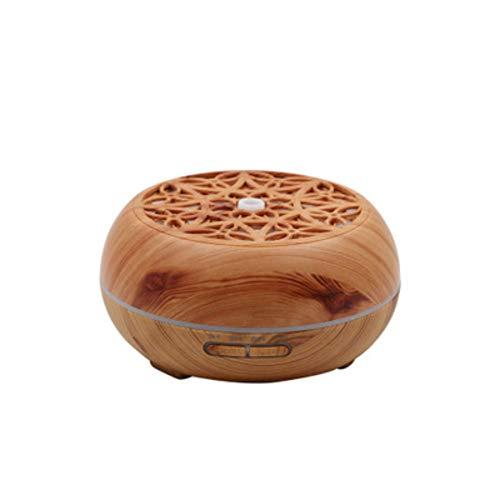 RLIRLI Difusor de Aroma Humidificador de 400 ml Humidificador de fragancias de Aceite LED de Grano de Madera con 7 Colores para Sala de Estar, Dormitorio, baño u Oficina de guardería