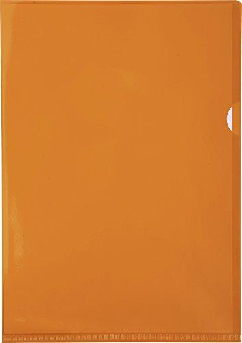Exacompta 661230E - Portafolios de plástico A4 13.5, color naranja, caja de 100