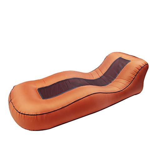 Ufblasbares Sofa Bewegliche Faltbare Leicht im Freien aufblasbaren Sofa Lazy Lounge Chair Mittagspause Chair Aufblasbares Sofa für zu Hause (Farbe : Red, Size : 190x72x50cm)