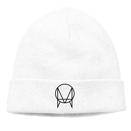JorgAkem Owsla Skrillex Thin Knit Beanies for Mens Womens Winter Hats Hedging Caps White