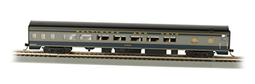 Bachmann Industries B&O Smooth-Side Coach Car with Lighted Interior (HO Scale), 85