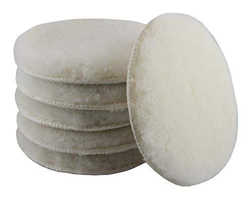 CLEANPRODUCTS mouton-polierpad-système de fixation velcro blanc 133/16 mm-lot de 6 pièces, pour utilisation avec universalpolitur schleifpaste et haute performance politur. le lammfellpad supporte les profondeurs d'entretien pour enlever les traces d'utilisation, les rayures, vermattungen, discontinuité, lackdefekte schleifriefen tous et à polir auto-glanzlacken et brillants your design avec polisseuse (pad pour disque de polissage-disque polisseur-profi produit pour les professionnels de l'industrie manufacturière (voiture/véhicule, lackpflege lackaufbereitung, fahrzeugaufbereitung autoaufbereitung)