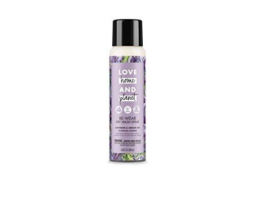 Love Home and Planet Dry Wash Spray, Lavender & Argan Oil, 6.76 fl oz