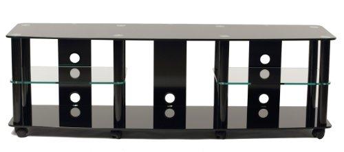TransDeco TV Stand, 75', Black