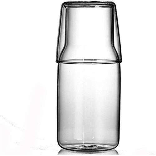 Tetera Tetera de 0,4 l / litro Jarra de vidrio de silicato de Envases de Vidrio de agua jarra con la tapa de la botella de té Jarro Con vertedor de agua for la limonada / Bebida fría / hielo Dispensad