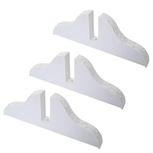 Standfuß für Paravent, Ständer Paraventhalter, weiß - 3er Set