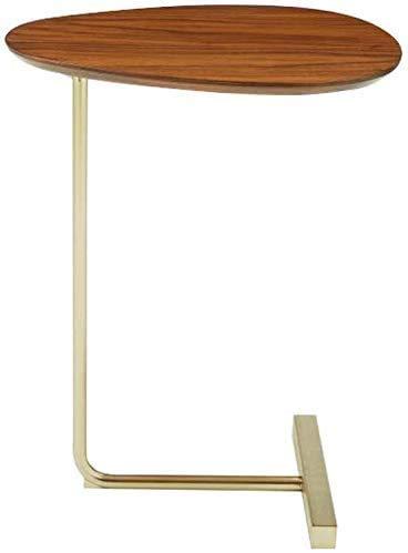 Einfacher ovaler Tisch, ich bewegendes Holz, Eisen Sofa, mehrere Lesetisch als faul Bett (Tabelle einschließlich Produkt nur),Brown