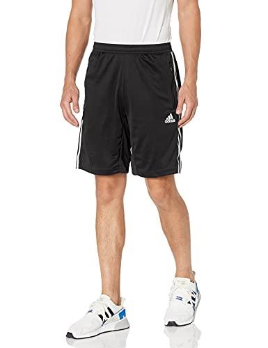 adidas Mens Designed 2 Move 3-Stripes Shorts Black/White X-Large