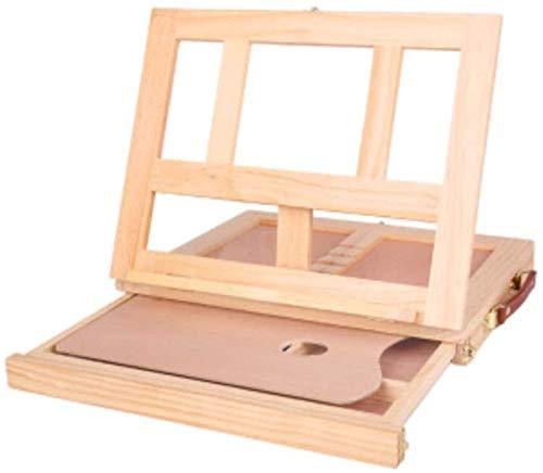 YLKCU Caballetes de Dibujo Caballete Ajustable para Mesa de Escritorio de Madera con cajón de Almacenamiento, Paleta de Pintura, Escritorio portátil de Madera para Artista 87