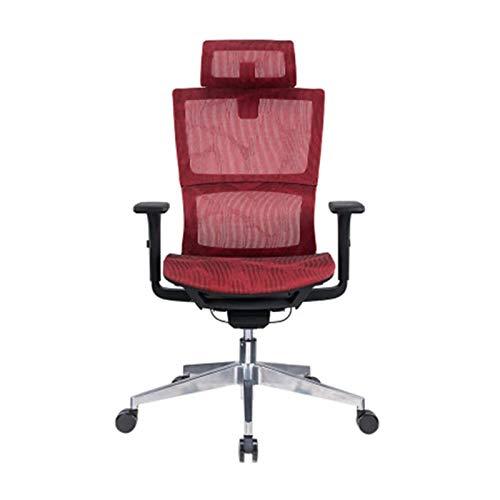 DJDLLZY Sedie Office Home Office Desk Sedia dell'ufficio Sedie ergonomiche della Maglia di Disegno Tessuto di Cotone in Rilievo Semplice Traspirante e Confortevole