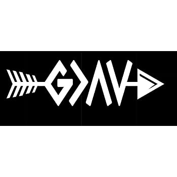 DECAL ADDICTION INC God Is Greater Than Highs And Lows Ups And Downs WHITE Vinyl Car//Laptop//Window//Wall Decal Inc.