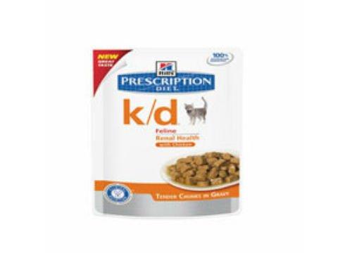 HILL'S PRESCRIPTION DIET k/d Feline Pouch - Alimento para gatos (12 x 85 g)