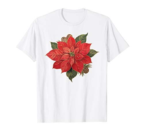 Merry Christmas Poinsettia T-Shirt