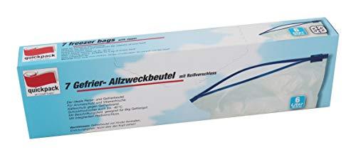 Unbekannt quickpack 70791 Gefrierbeutel, LDPE Polyethylen, Durchsichtig, 30x40, 7