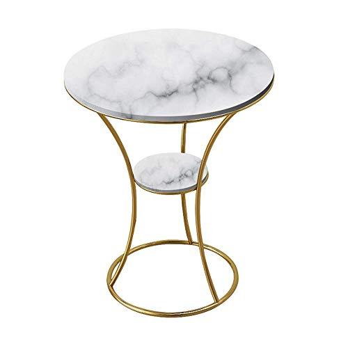 GAOLIM Table d'appoint Nordique Salon Marbre Petite Table Ronde Canapé Table Balcon Table Basse Table d'angle, 19.6\