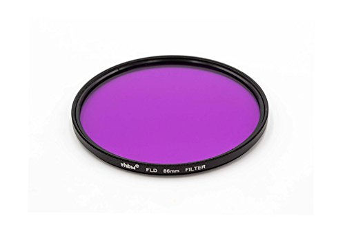 vhbw Filtro FLD Fluorescente 86mm Lila para Objetivos de cámaras Sigma 170-500 mm 5.0-6.3 DG RF APO
