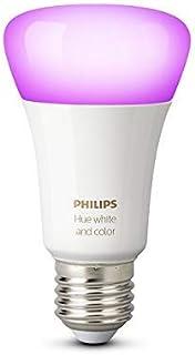 Philips Hue White and Color Ambiance - Bombilla LED E27 individual, 9,5 W, iluminación inteligente, 16 millones de colores, compatible con Amazon Alexa, Apple HomeKit y Google Assistant