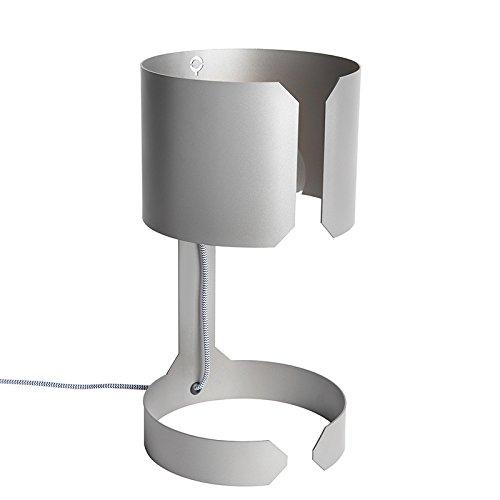 QAZQA Diseño Set 2 lámparas de mesa diseño acero mate - WALTZ Adecuado para LED Max. 2 x 60...