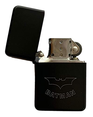 Emblems-Gifts Benzinfeuerzeug, Motiv: Batman, Schwarz