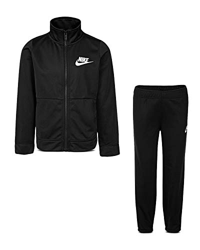 Nike Boy`s Therma Dri-Fit 2 Piece Tracksuit, Black(86e130-023)/White/Black, 4