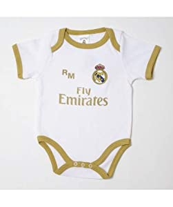 10XDIEZ Body Bebe Real Madrid 813 BCO-Ocre - Tallas bebé - 3 Meses