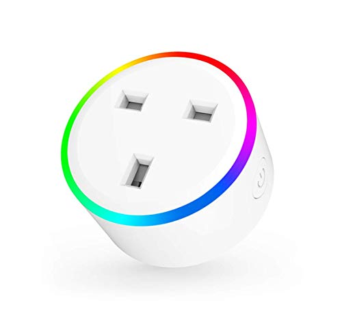 Home Awesome Breathing Light Smart Plug Mini, No Hub Required, Wi-Fi, Compatible with Amazon Alexa, Control Your Devices (1-er Pack)