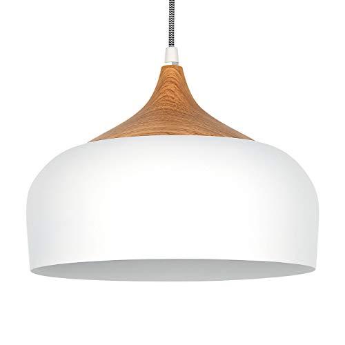 tomons Pendelleuchte Weiß LED Deckenlampe Skandinavisch Moderner Simpler Stil für Wohnzimmer Esszimmer Restaurant