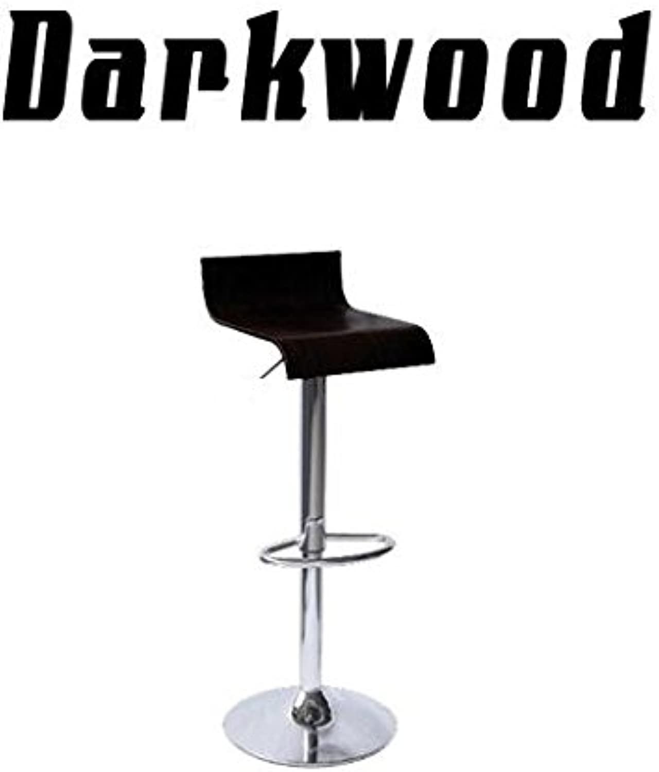 Darkwood Contemporary Wooden Bar Stool - Black