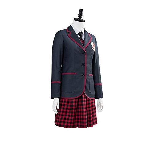 6 piezas The Umbrella Academy uniforme escolar para nias Vanya Allison Cosplay disfraz Halloween carnaval fiesta trajes para mujer conjunto de falda