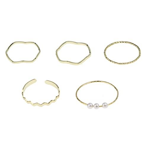 VVXXMO 5 anillos apilables por encima de los nudillos, anillos de punta de dedo, juego de joyería
