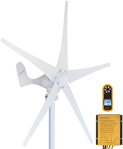 Pikasola Wind Turbine Generator Kit 400W 12V with 5 Blade Wind Generator Kit with Charge Controller product image