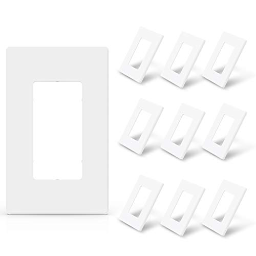 ELEGRP - Placa decorativa de pared sin tornillos, tamaño estándar irrompible termoplástica para interruptor de salida de...