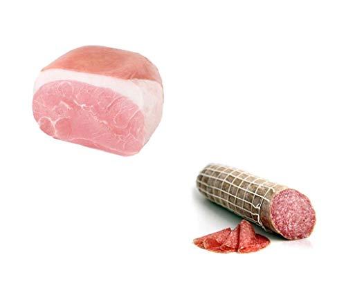 Fiorucci, trancio di prosciutto cotto spalla, c.a. 2,2 kg sottovuoto + Fiorucci, salame ungherese, c.a. 1 kg sottovuoto