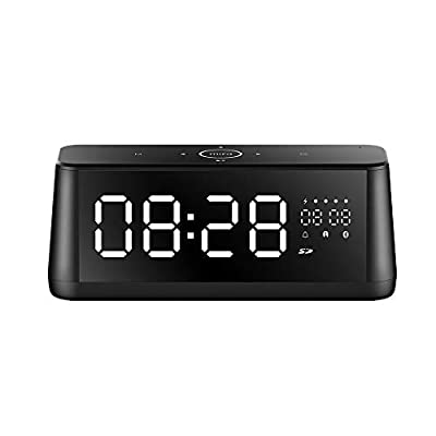 Portable Bluetooth Speaker, MIFA Speakers Bluetooth 4.2, 30W, Digital Alarm Clock with LED Display, HD Bass Sound, 4000mAh, AUX-in, MIC for Echo Dot, iPhone, Samsung, Touch Control by Mifa Innovations Llc