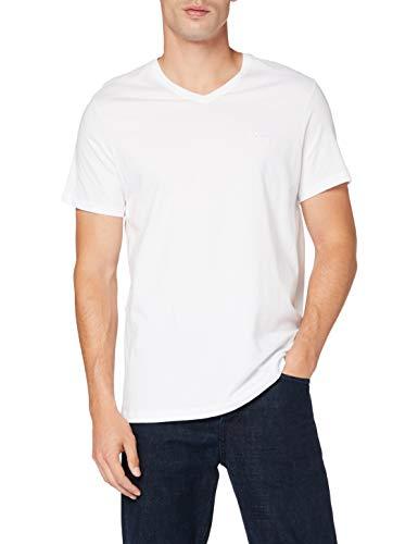 BOSS T-Shirt Vn 2p Camiseta, Blanco (White 100), Medium (Pack de 2) para Hombre